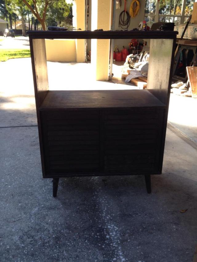 vintage record cabinet before x 2